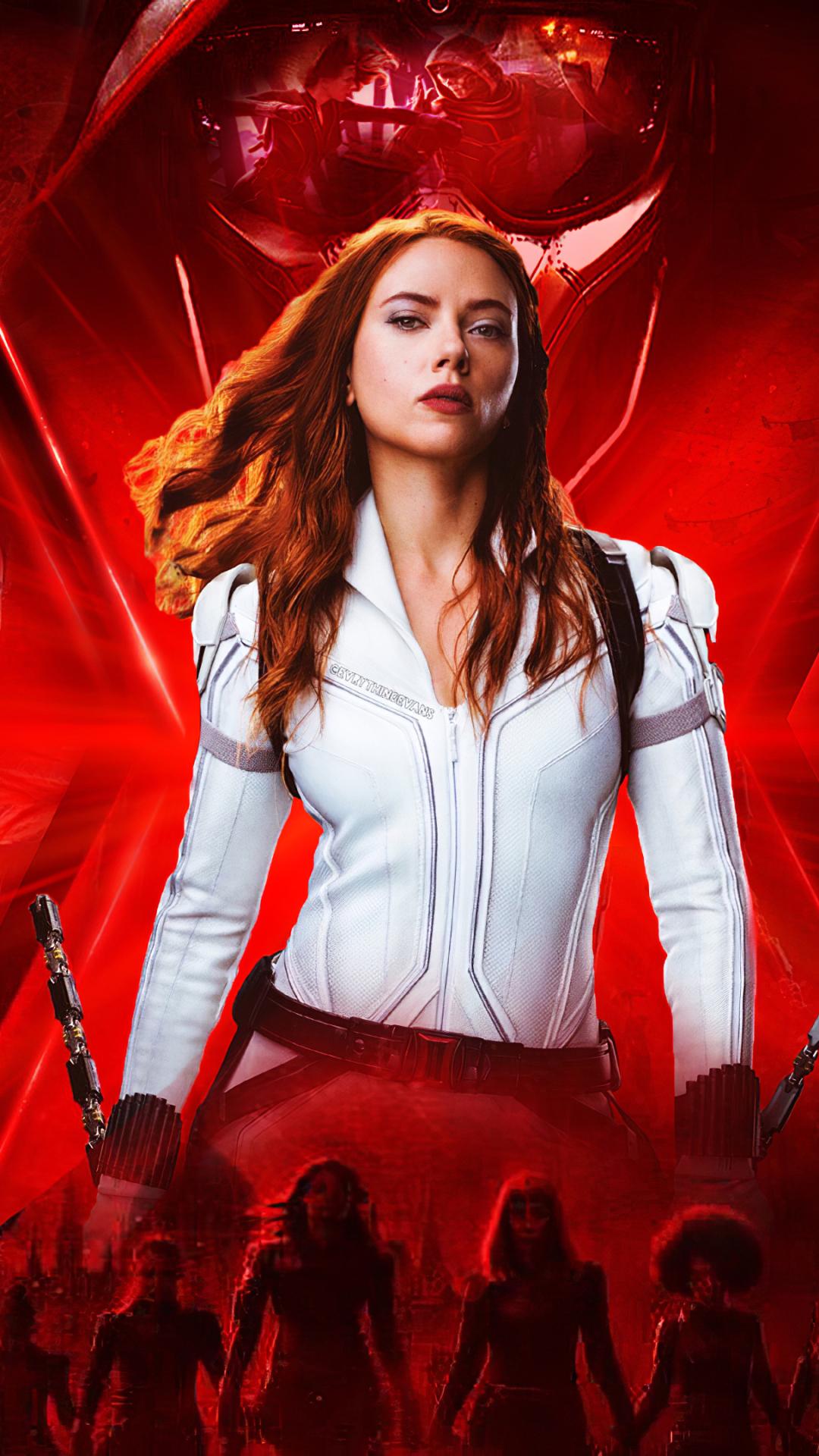 Black Widow Scarlett Johansson mobile wallpaper
