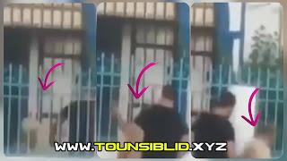 (بالفيديو)  عون أمن يعتدي بالضرب و سبب على راجل كبير في الشارع..