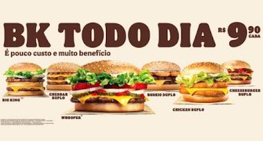 Nova campanha do Burguer King oferece super sanduíches com pouco custo e muito benefício
