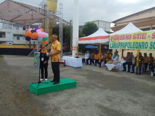 Jadi Agenda Tahunan, Pemkab Soppeng Apresiasi Porseni 2019 STIE-STIMIK Lamappapoleonro