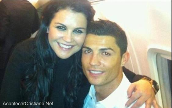Futbolista Cristiano Ronaldo y su hermana Katia