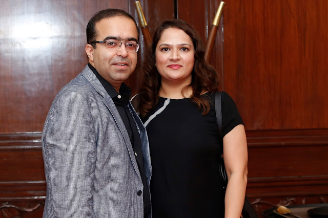 Dr Rohit Batra,Dermatologist at Dermaworld Clinic and his wife