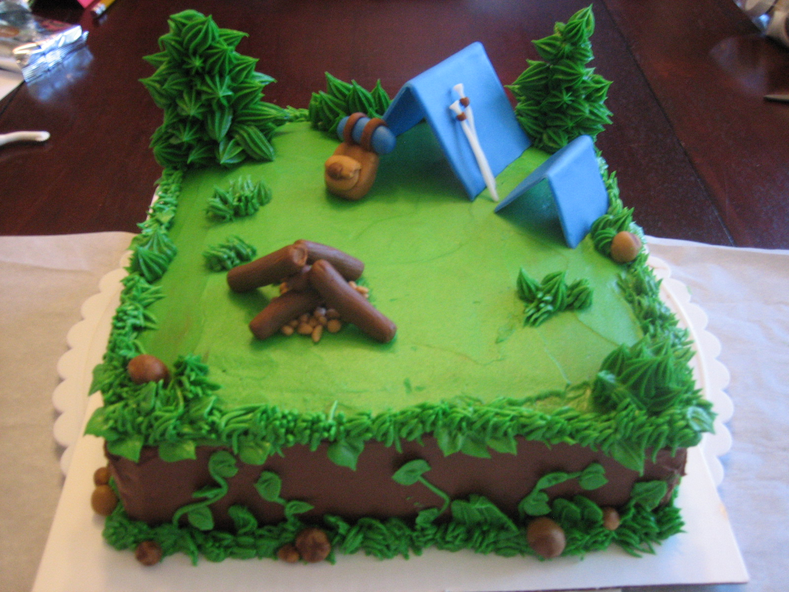 Camping Themed Cake Decorations