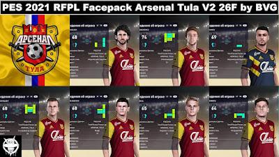 PES 2021 RFPL Facepack Arsenal Tula V2 26F by BVG