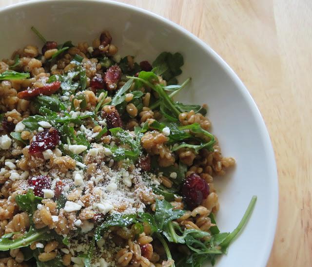 Cranberry, Arugula & Grains Salad