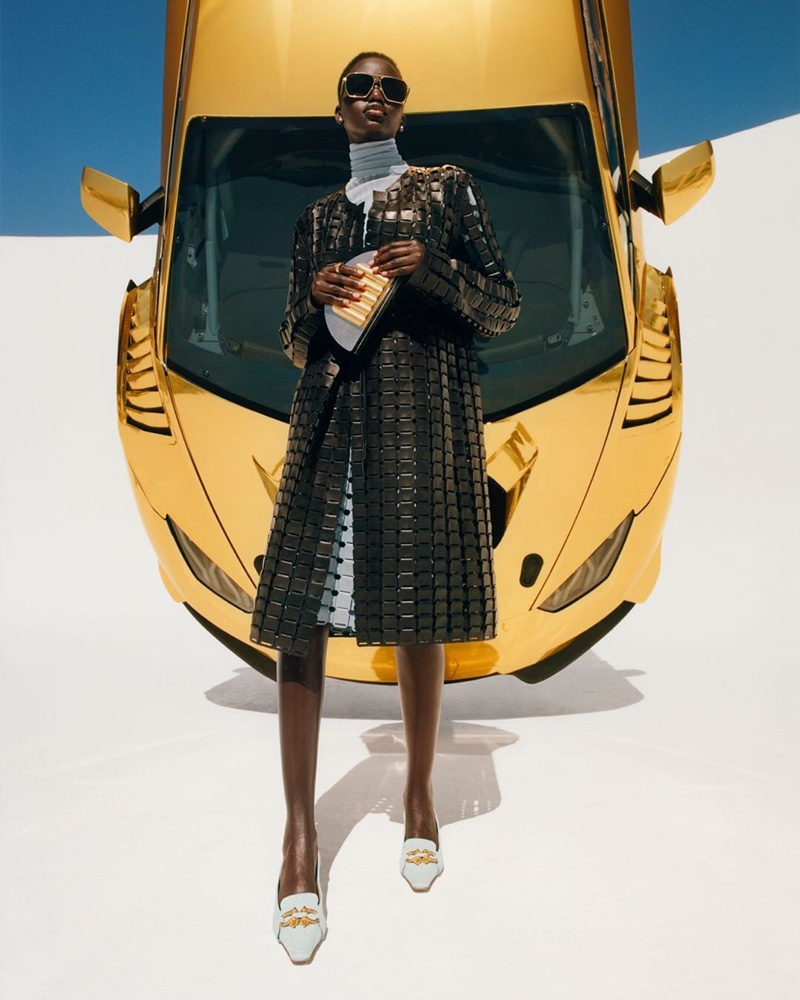 Adut Akech stars in the Bottega Veneta Fall/Winter 2019 Campaign
