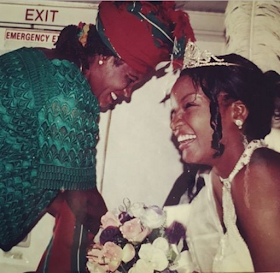 #MothersDay: Omotola Celebrates Mother's Day With Her Late's Mum Pic. Photo