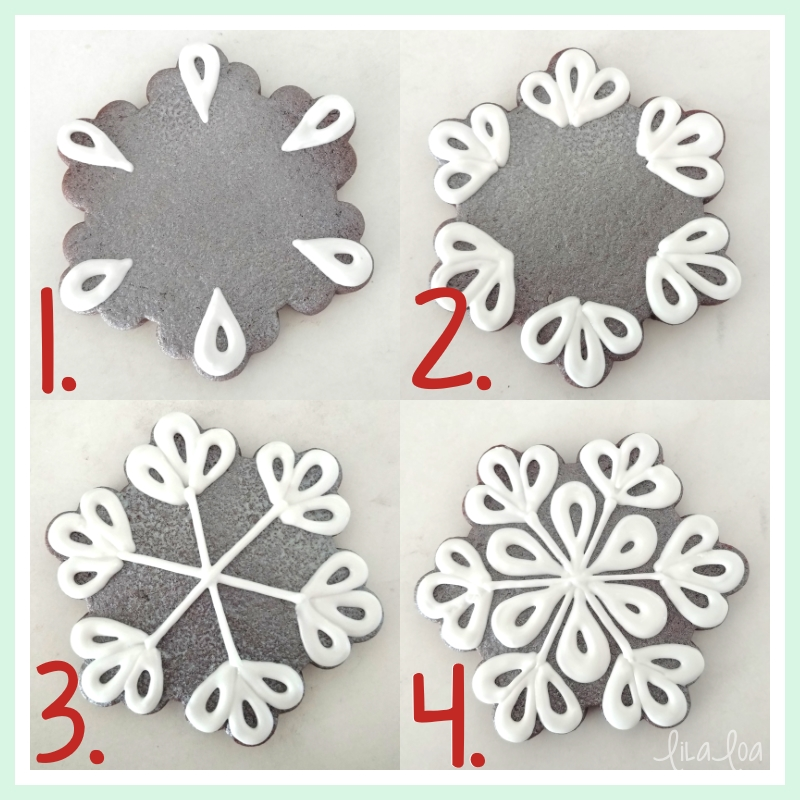 Sugar cookie snowflake tutorial