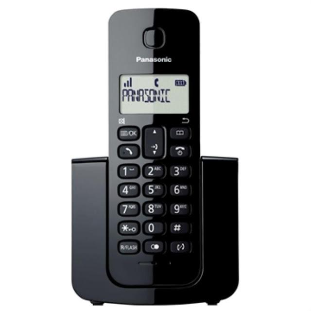 Telefone sem Fio KX-TGB110LBB Preto com Identificador de Chamadas Panasonic