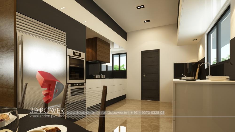 3d Kitchen Interior Design Rendering