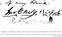 Signature, John Early (1786-1873), petition for pardon, Robert Henry Glass (1822-1896). Retrieved 2021 from Case Files of Applications from Former Confederates for Presidential Pardons ('Amnesty Papers'), National Archives.
