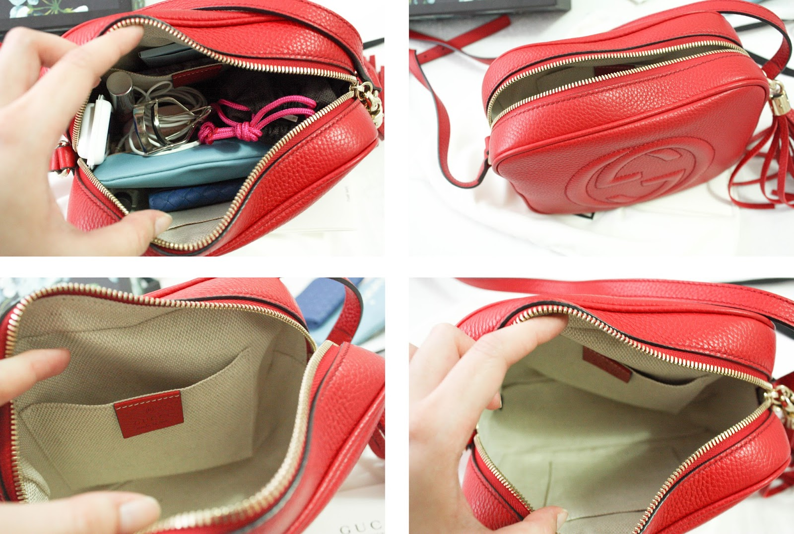 6e798084ec26da It's so beautiful. This bag is so beautifully crafted. Also, it holds a lot  for such a small bag.