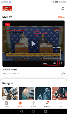 click full screen play free on news free live tv app