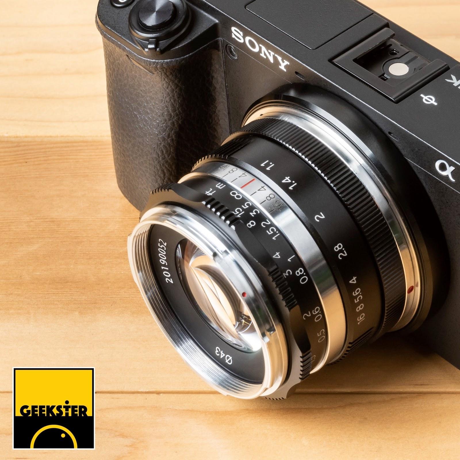 Объектив Geekster 35mm f/1.1 с камерой Sony