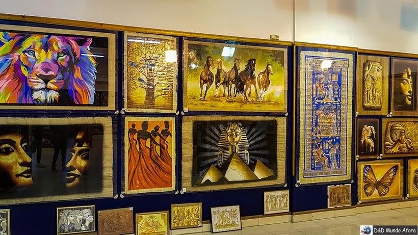 Fábrica de papiro no Cairo - Diário de Bordo: 2 dias no Cairo