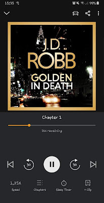 GOLDEN IN DEATH by JD Robb audiobook