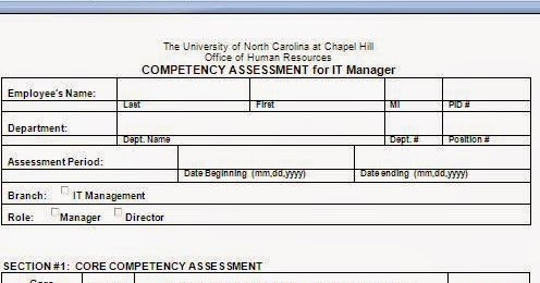 Competency Assessment Form Template