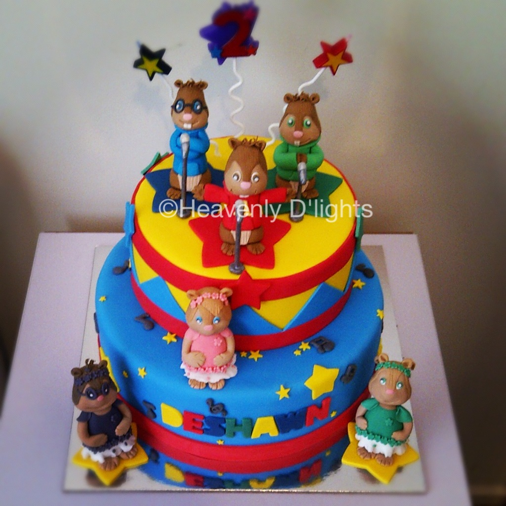 Heavenly Dlights Alvin and The Chipmunks Birthday Cake