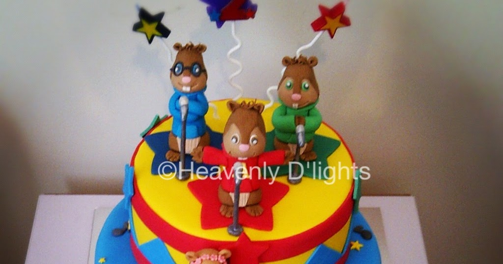 heavenly d lights alvin and the chipmunks birthday cake
