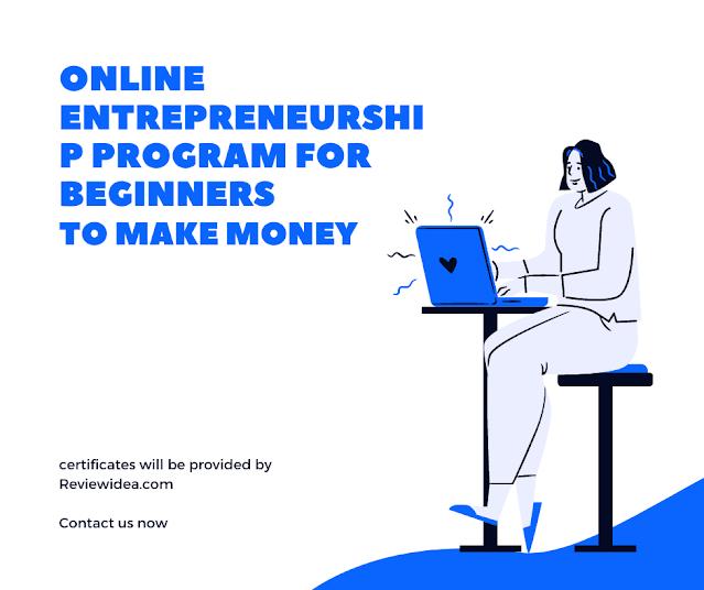 online entrepreneurship Program for beginners