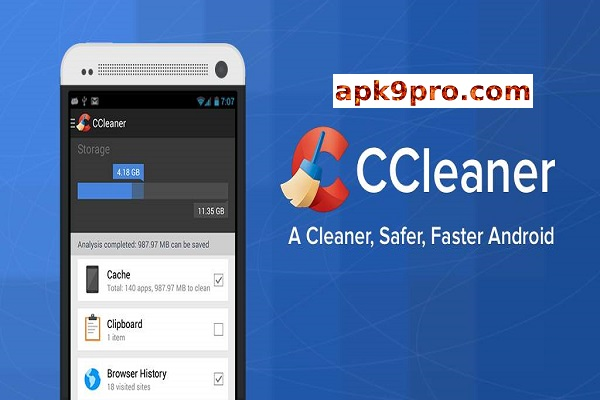 CCleaner v5.1.0 Premium Unlocked Apk + Mod File size 34 MB  for android