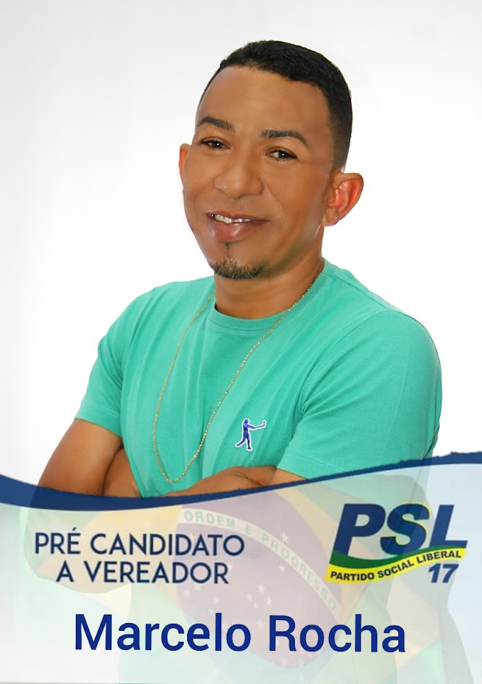 POLÍTICA: Marcelo Rocha disputará o pleito eleitoral como pré-candidato a vereador pelo PSL; confira um pouco de sua história