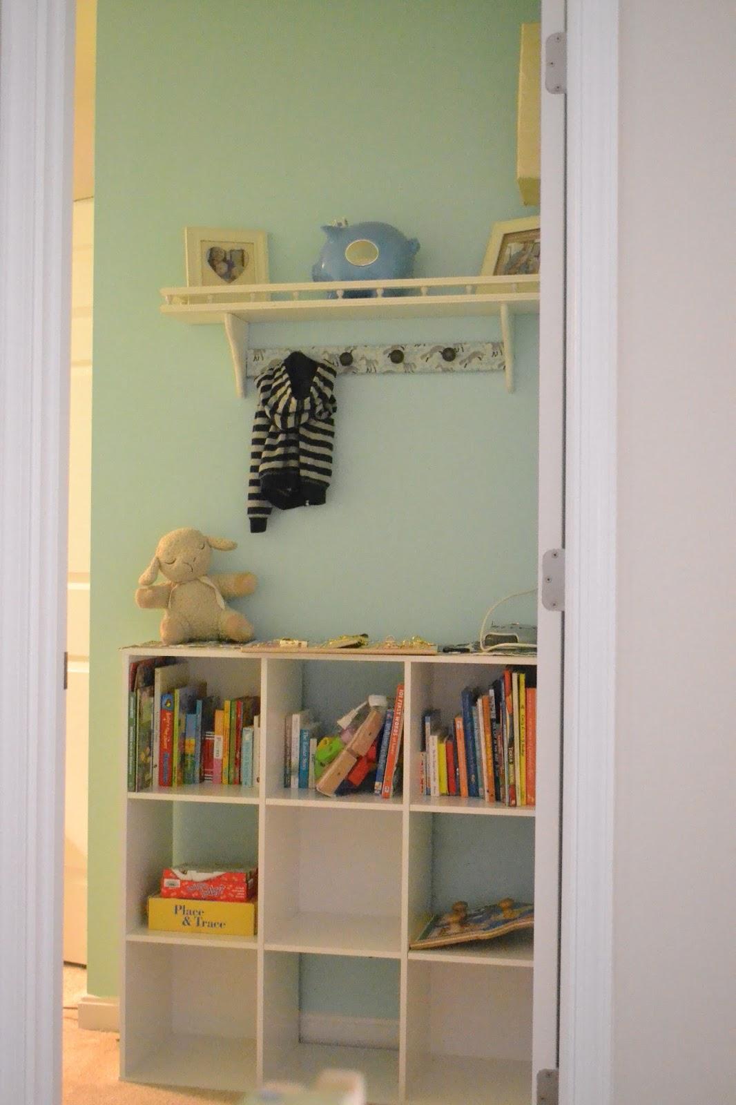 nursery entry coat rack and shelf