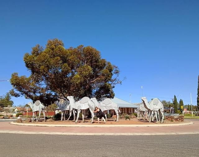 Tin Camel Roundabout Sculpture in Norseman, WA