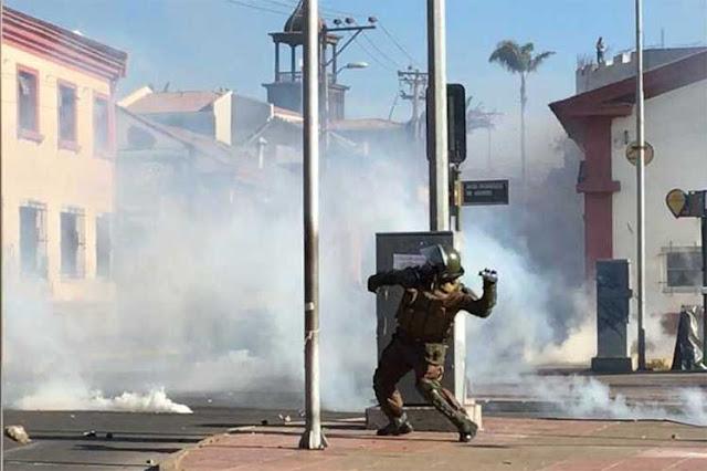 Chile agota bombas lacrimógenas y las compra en Brasil