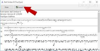 Menulis Huruf Hanacaraka (Bali Simbar) Pada Ms Word