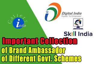 List of Brand Ambassadors of Different Government Schemes