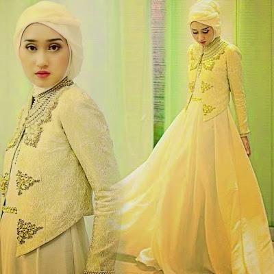 Model Baju Muslim Bahan Brokat Modern Terbaru