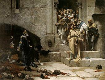 La leyenda de la campana de Huesca cuenta cómo Ramiro II el Monje, rey de Aragón, decapitó a doce nobles que se opusieron a su voluntad.
