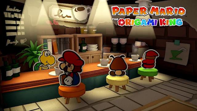 Paper Mario: The Origami King (Switch): Nintendo compartilha a música de uma cafeteria do jogo