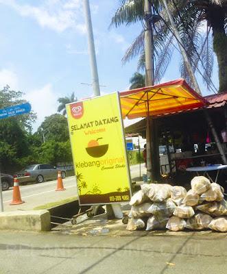 pintu masuk coconut shake klebang melaka