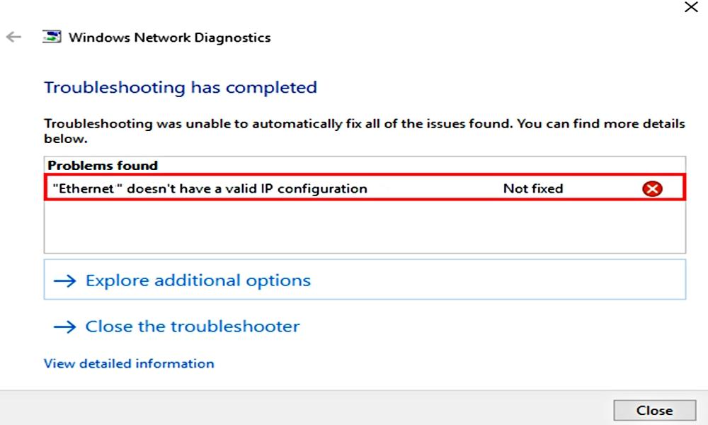 حل مشكلة ظهور رسالة الخطأ عنوان اي بي غير صالح WiFi doesn't have a valid IP configuration