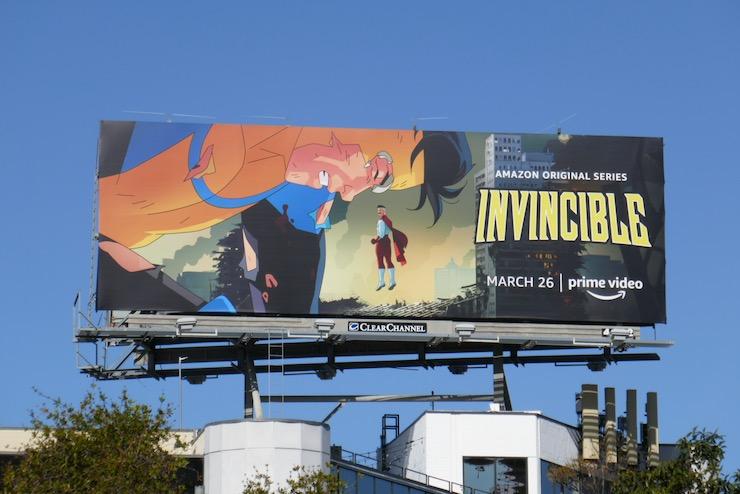 Invincible series premiere billboard