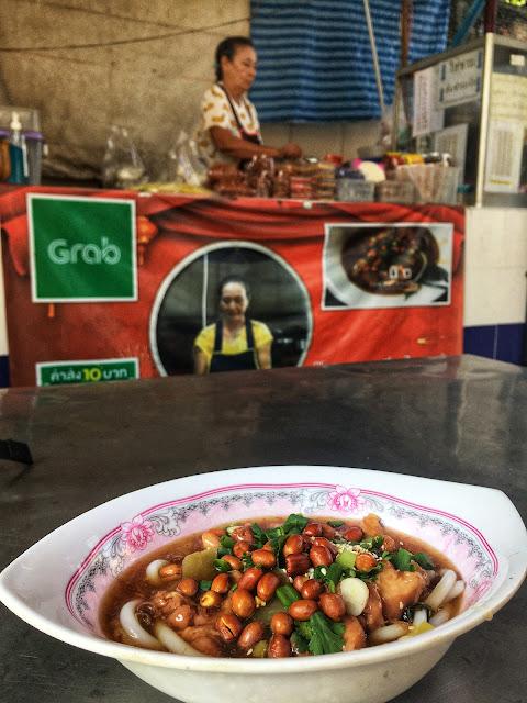 noodles at a Chinese shrine, Bangkok, Thailand