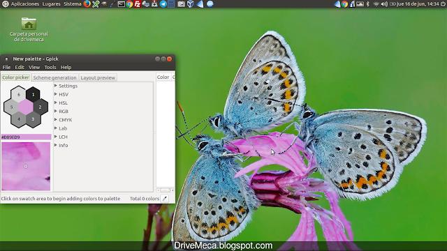 DriveMeca instalando gpick en Linux Ubuntu