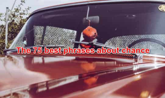 The 75 best phrases about chance