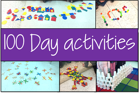 100th day of school activities - creation stations and measurement exploration