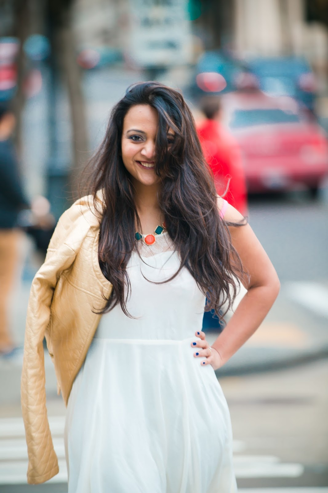 Plus size indian fashion blogger, short white dress, indian fashion blogger, seattle blogger,