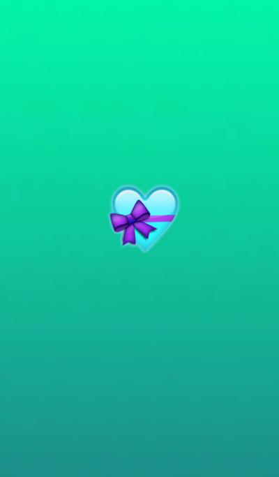 Present Light Blue Heart @Winter Feature