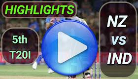 NZ vs IND 5th T20I 2020