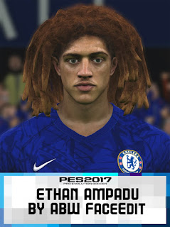 PES 2017 Faces Ethan Ampadu by ABW_FaceEdit