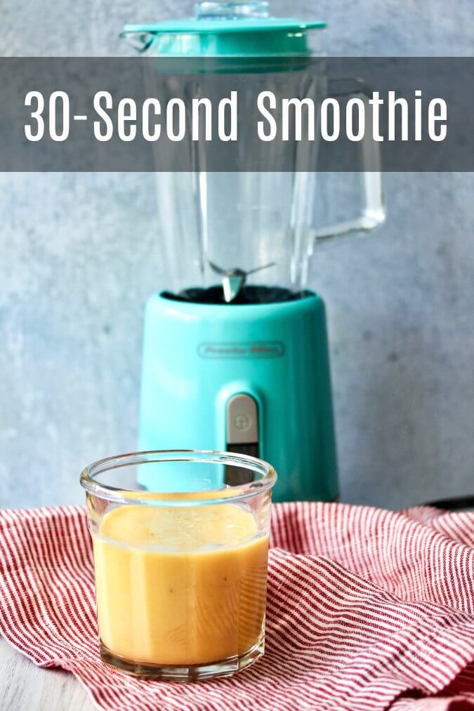 30-second yogurt, juice, and banana smoothie