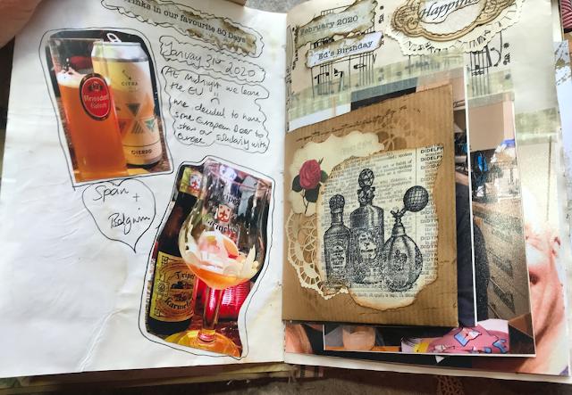 My First Junk Journal: Adding Photos & Journalling #2