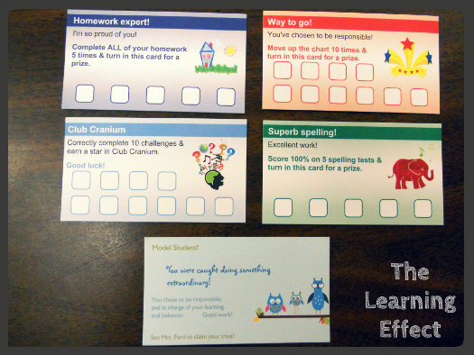 Classroom reward cards the learning effect ive created the reward cards through vistaprint under the business menu theres a link for loyalty cards these are not business cards colourmoves