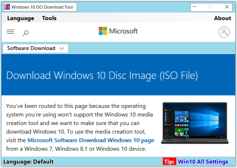 Direct Download For Windows 10 ISO Files