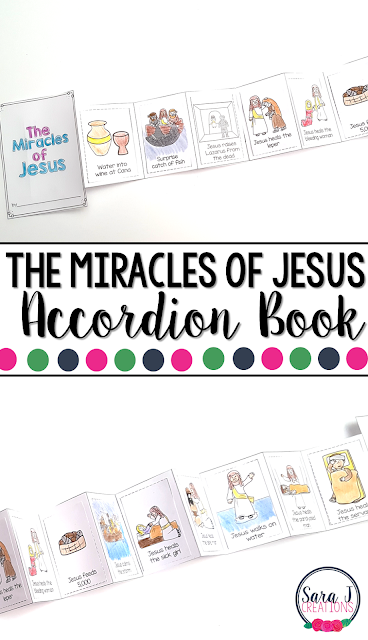 The Miracles of Jesus Mini Book is the perfect activity for teaching kids about 12 of the miracles that Jesus performed